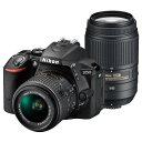 【送料無料】ニコン デジタル一眼レフカメラ・ダブルズームキット D5500 ブラック D5500WZBK [D5500WZBK]