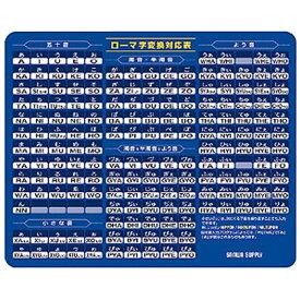 サンワサプライ マウスパッド(ローマ字、大) ブルー MPD-OP17RL7BL [MPDOP17RL7BL]