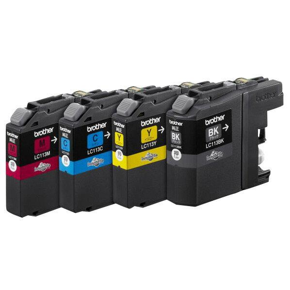 ブラザー インクカートリッジ 4色パック LC113-4PK [LC1134PK]