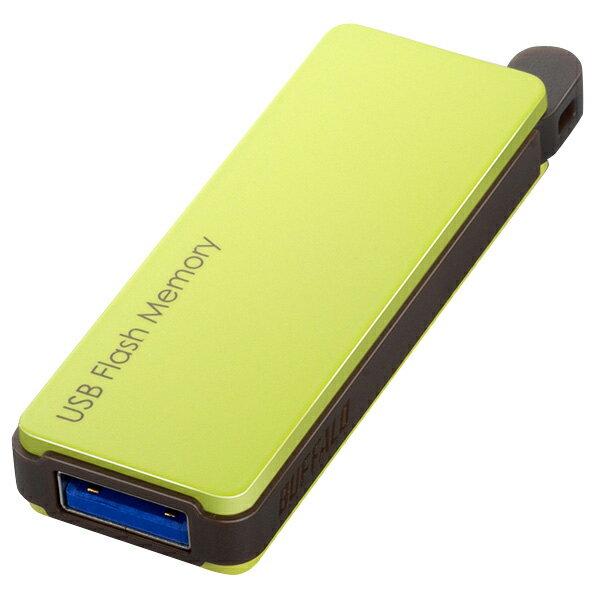 BUFFALO USBフラッシュメモリ(16GB) グリーン RUF3-PW16G-GR [RUF3PW16GGR]【KK9N0D18P】