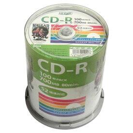 磁気研究所 データ用CD-R 700MB 52倍速対応 インクジェットプリンタ対応 100枚入り HDCR80GP100 [HDCR80GP100]【SPSP】