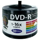 HI DISC データ用DVD-R 4.7GB 1-16倍速対応 インクジェットプリンタ対応 50枚入り HDDR47JNP50SB2 [HDDR47JNP50...