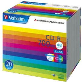 Verbatim データ用CD-R 700MB 48倍速 インクジェットプリンタ対応 20枚入り SR80SP20V1 [SR80SP20V1]