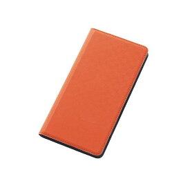 レイアウト カラフルスリムレザーケース(合皮) Xperia Z4用 オレンジ RT-XZ4CLC2/O [RTXZ4CLC2O]