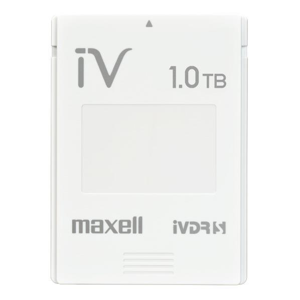 【送料無料】マクセル カセットハードディスク アイヴィ「カラーシリーズ」 1.0TB(1個) ホワイト M-VDRS1T.E.WH.K [MVDRS1TEWHK]