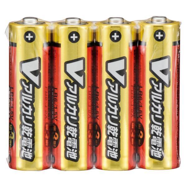 オーム電機 単3形Vアルカリ乾電池 4本パック LR6/S4P/V [LR6S4PV]