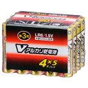 オーム電機 単3形Vアルカリ乾電池 20本パック LR6/S20P/V [LR6S20PV]【FOP】