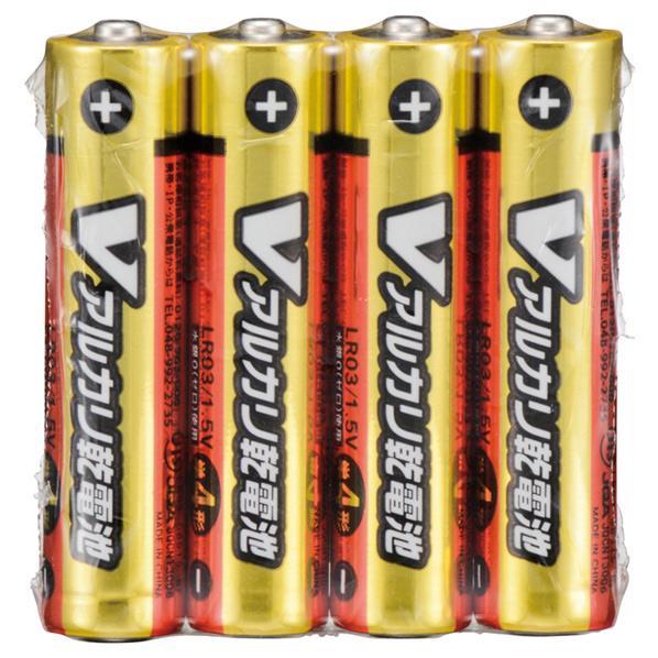オーム電機 単4形Vアルカリ乾電池 4本パック LR03/S4P/V [LR03S4PV]