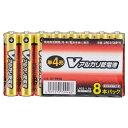 オーム電機 単4形Vアルカリ乾電池 8本パック LR03/S8P/V [LR03S8PV]【MVSP】