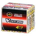 オーム電機 単4形Vアルカリ乾電池 20本パック LR03/S20P/V [LR03S20PV]【FOP】
