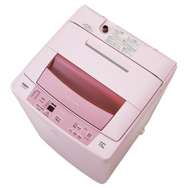 【送料無料】AQUA 7.0kg全自動洗濯機 keyword キーワードピンク AQW-S7E3(KP) [AQWS7E3KP]【RNH】【SPAP】