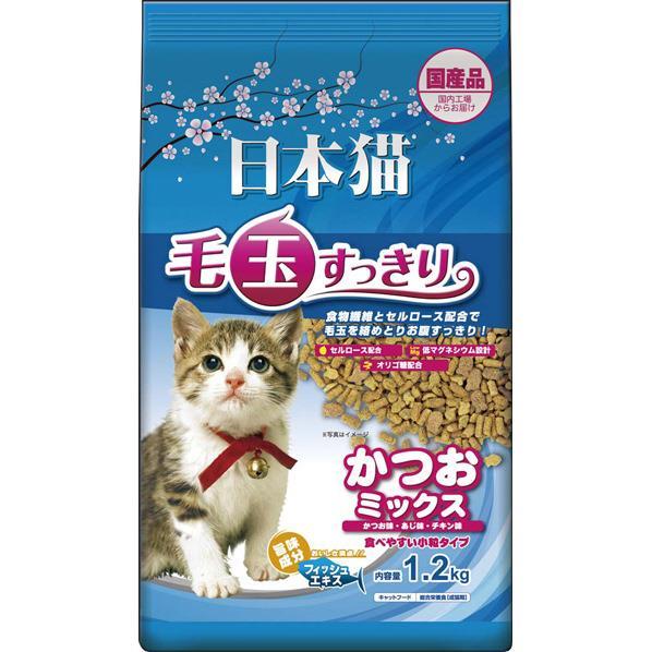 イースター 日本猫 毛玉すっきり かつおミックス1.2KG ニホンネコケダマカツオMIX1.5KG [ニホンネコケダマカツオMIX15KG]
