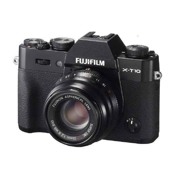 【送料無料】富士フイルム デジタル一眼カメラ・レンズキット X-T10 ブラック F X-T10LK35F2-B [FXT10LK35F2B]【RNH】