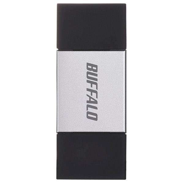 【送料無料】BUFFALO × USB3.0対応 USBメモリー(64GB) シルバー RUF3-AL064G-SV [RUF3AL064GSV]【KK9N0D18P】