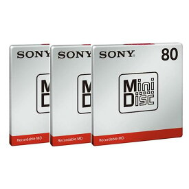 SONY ミニディスク 80分 1枚入り 3個セット MDW80TP3 [MDW80TP3]