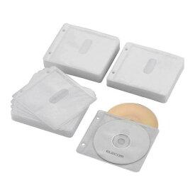 エレコム Blu-ray・CD・DVD対応不織布ケース 2穴 CCD-NBWB240WH [CCDNBWB240WH]