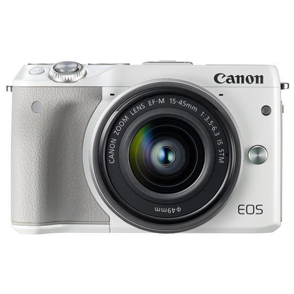 【送料無料】キヤノン デジタル一眼カメラ・EF-M15-45 IS STMレンズキット EOS M3 ホワイト EOSM3WH1545ISSTMLK [EOSM3WH1545ISSTMLK]【RNH】