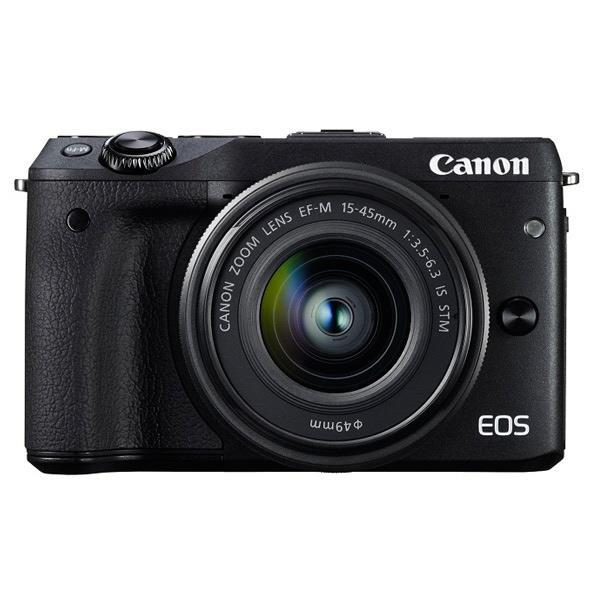 【送料無料】キヤノン デジタル一眼カメラ・EF-M15-45 IS STMレンズキット EOS M3 ブラック EOSM3BK1545ISSTMLK [EOSM3BK1545ISSTMLK]【RNH】