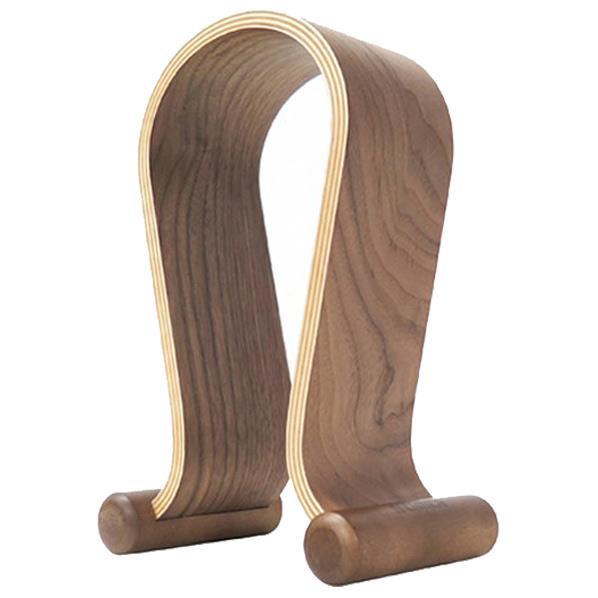【送料無料】タイムリー オメガ型木製ヘッドフォンスタンド ブラウン WD-HPSTAND-BR [WDHPSTANDBR]