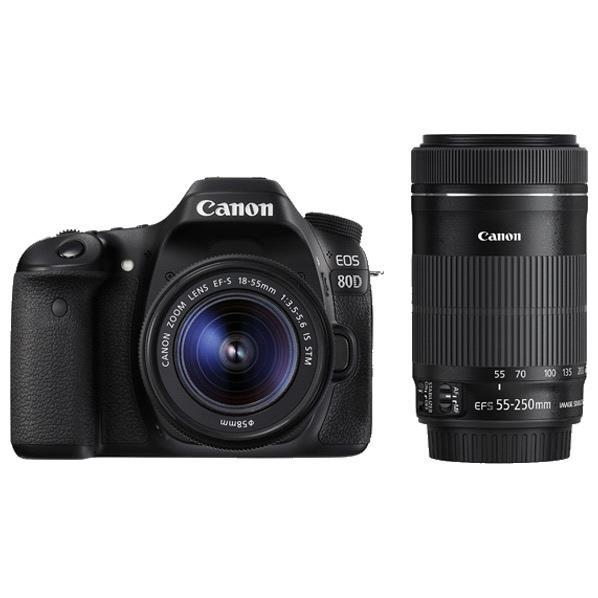 【送料無料】キヤノン デジタル一眼レフカメラ・ダブルズームキット EOS 80D EOS80DWKIT [EOS80DWKIT]【RNH】