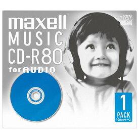 マクセル 音楽用CD-R 80分 1枚入り カラーMIX CDRA80DBL.1P [CDRA80DBL1P]