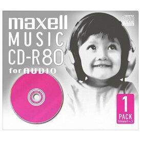 マクセル 音楽用CD-R 80分 1枚入り カラーMIX CDRA80DPK.1P [CDRA80DPK1P]