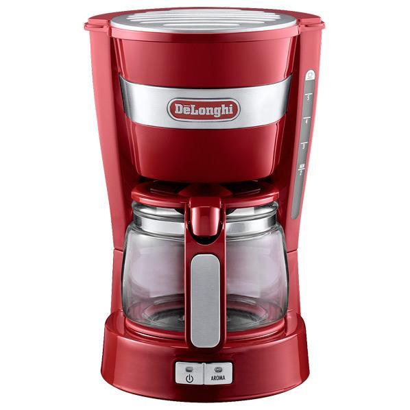 デロンギ ドリップコーヒーメーカー レッド ICM14011J-R [ICM14011JR]【RNH】