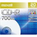 マクセル データ用CD-R 700MB 48倍速対応 インクジェットプリンタ対応 20枚入り CDR700S.PNW.20S [CDR700SPNW20S]