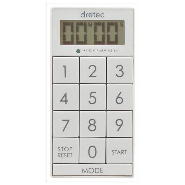 ドリテック デジタルタイマー 「スリムキューブ」 ホワイト T-520WT [T520WT]