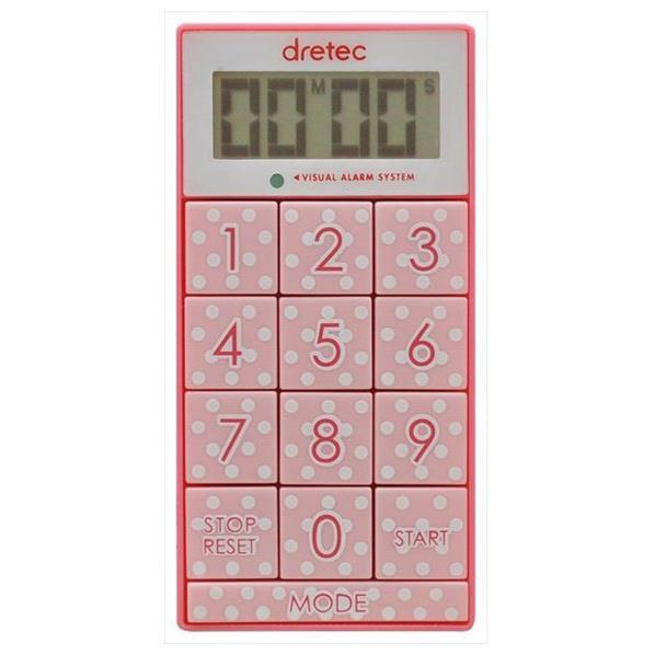 ドリテック デジタルタイマー 「スリムキューブ」 ピンク T-520PK [T520PK]