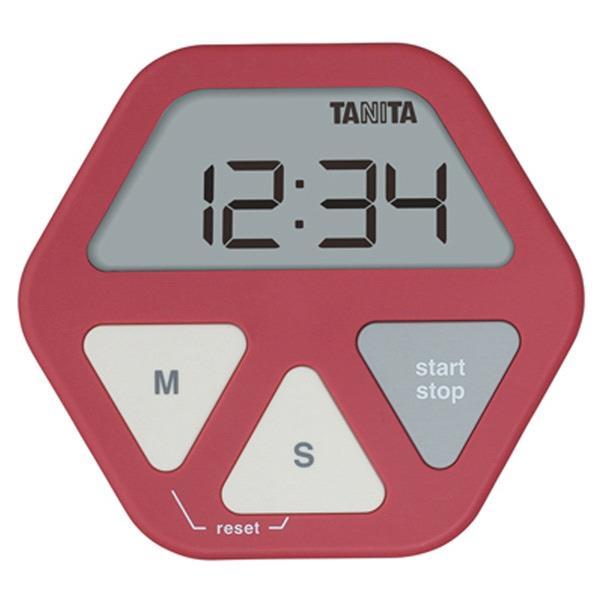 タニタ ガラスにつくタイマー レッド TD-410-RD [TD410RD]
