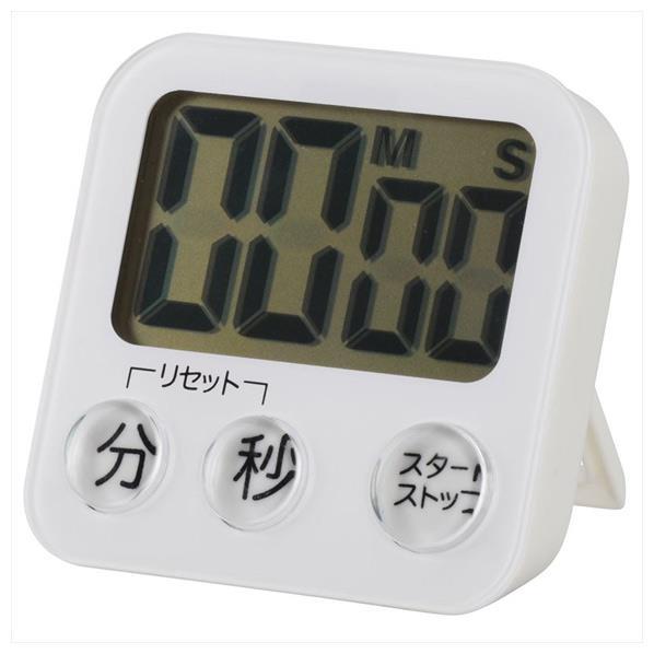 オーム電機 大画面デジタルタイマー ホワイト COK-T130-W [COKT130W]