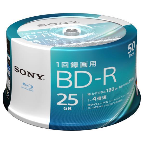 SONY 録画用25GB 1層 1-4倍速対応 BD-R追記型 ブルーレイディスク 50枚入り 50BNR1VJPP4 [50BNR1VJPP4]【KK9N0D18P】
