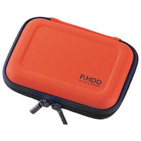 エレコム ポータブルHDDセミハードケース(Sサイズ) オレンジ HDC-SH001DR [HDCSH001DR]