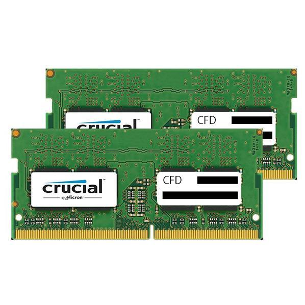 【送料無料】CFD DDR4-2400対応 ノートPC用メモリ 260pin SO-DIMM(16GB×2枚組) CFD Selection Crucial by Micron W4N2400CM-16G [W4N2400CM16G]