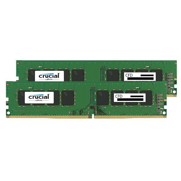 【送料無料】CFD DDR4-2400対応 デスクトップPC用メモリ 288pin DIMM(8GB×2枚組) CFD Selection Crucial by Micron W4U2400CM-8G [W4U2400CM8G]