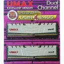 【送料無料】UMAX デスクトップ用DDR4メモリ DDR4-2400(16GB×2枚) ホワイト DCDDR4-2400-32GB HS [DCDDR4240...