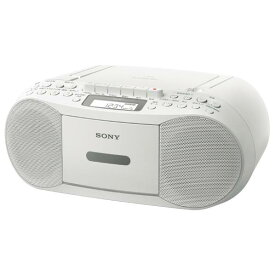 SONY CDカセットレコーダー ホワイト CFD-S70 W [CFDS70W]【RNH】