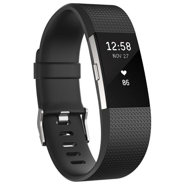 【送料無料】Fitbit 心拍計+フィットネスリストバンド Lサイズ Charge 2 Black FB407SBKL-JPN [FB407SBKLJPN]