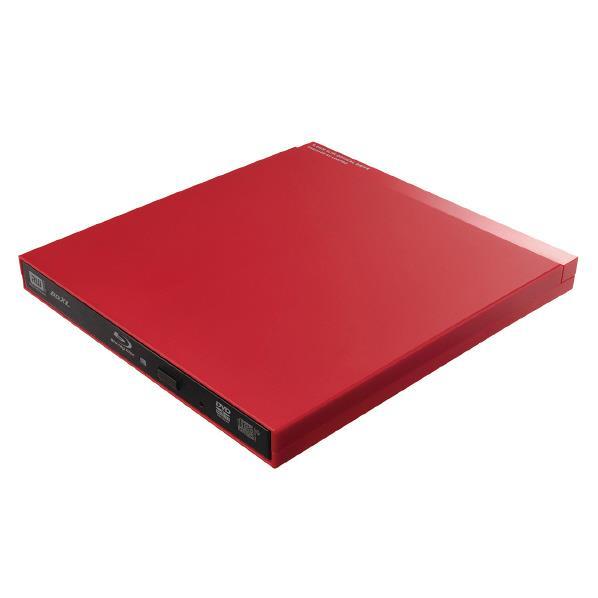 【送料無料】ロジテック USB3.0対応 ポータブルブルーレイドライブ(編集・再生・書込ソフト付) レッド LBD-PUD6U3VRD [LBDPUD6U3VRD]【KK9N0D18P】【RNH】