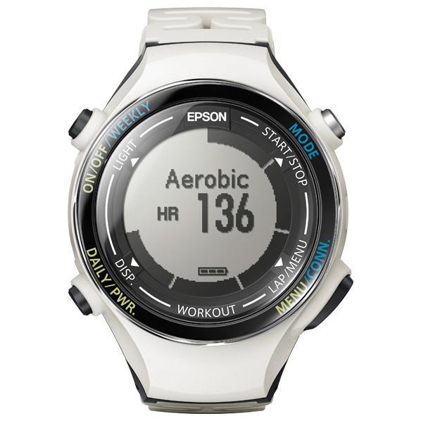 【送料無料】エプソン 活動量計機能搭載GPSウォッチ WristableGPS クールホワイト SF-850PC [SF850PC]