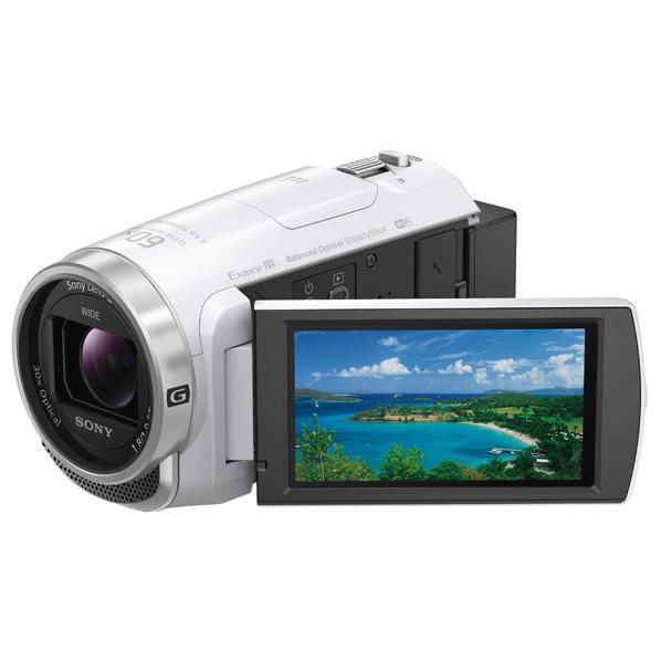 【送料無料】SONY 64GB内蔵メモリー デジタルHDビデオカメラレコーダー ハンディカム ホワイト HDR-CX680 W [HDRCX680W]【RNH】