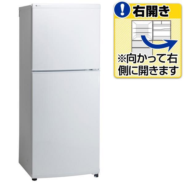 ユーイング 【右開き】140L 2ドアノンフロン冷蔵庫 ホワイト UR-F140J-W [URF140JW]【RNH】【SYBN】