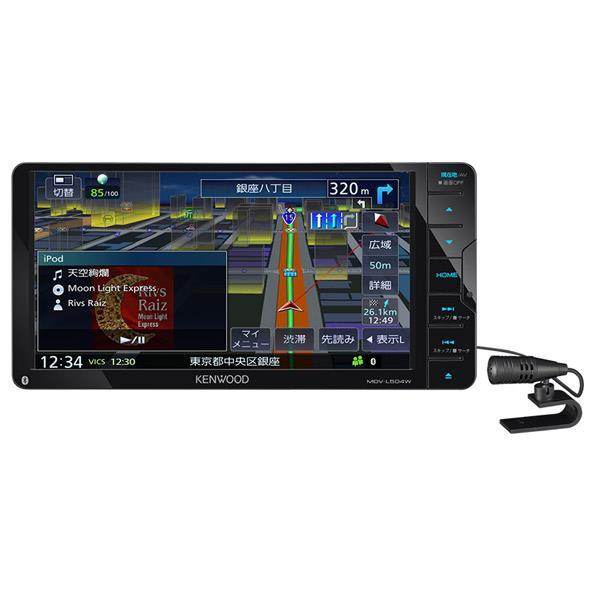 KENWOODケネックス 地上デジタルTVチューナー/Bluetooth内蔵 DVD/USB/SD/ AVナビゲーションシステム(200mmワイドモデル) 彩速ナビ MDV-L504W [MDVL504W]【RNH】