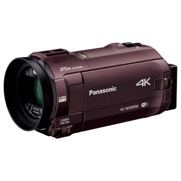 【送料無料】パナソニック 64GB内蔵メモリー デジタル4Kビデオカメラ ブラウン HC-WX995M-T [HCWX995MT]【RNH】