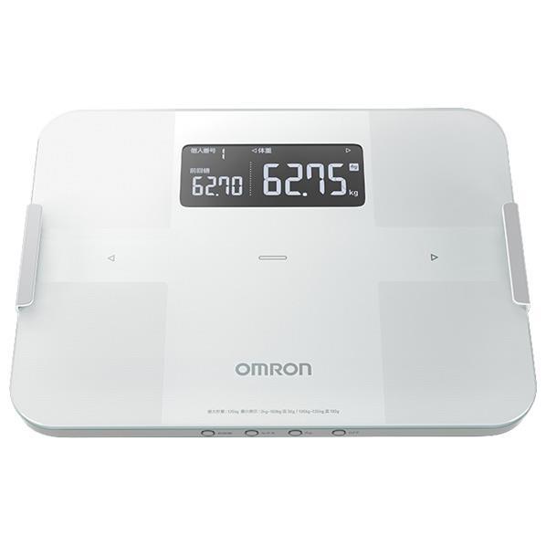 【送料無料】オムロン 体重体組成計 カラダスキャン ホワイト HBF-255T-W [HBF255TW]【RNH】