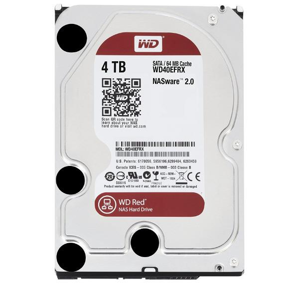 WESTERN 3.5インチ内蔵ハードディスクドライブ(4TB) WD Red WD40EFRX-RT2 [WD40EFRXRT2C]【WEDP】