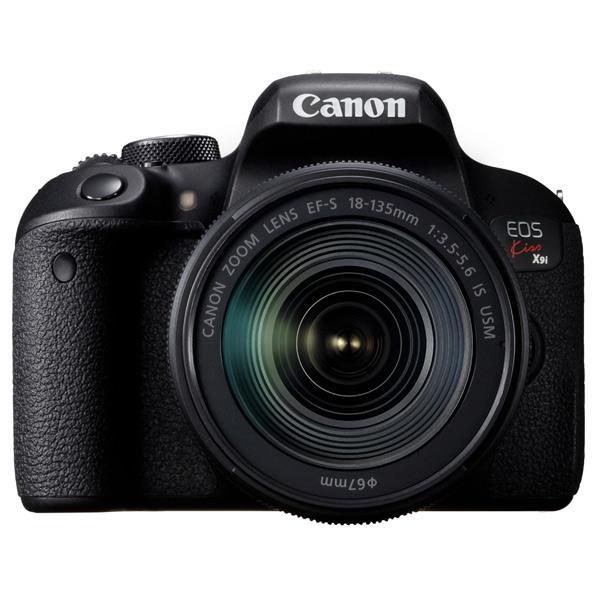 【送料無料】キヤノン デジタル一眼レフカメラ・EF-S18-135 IS USM レンズキット EOS Kiss X9i ブラック KISSX9I18135ISUSMLK [KISSX9I18135ISUSMLK]【RNH】