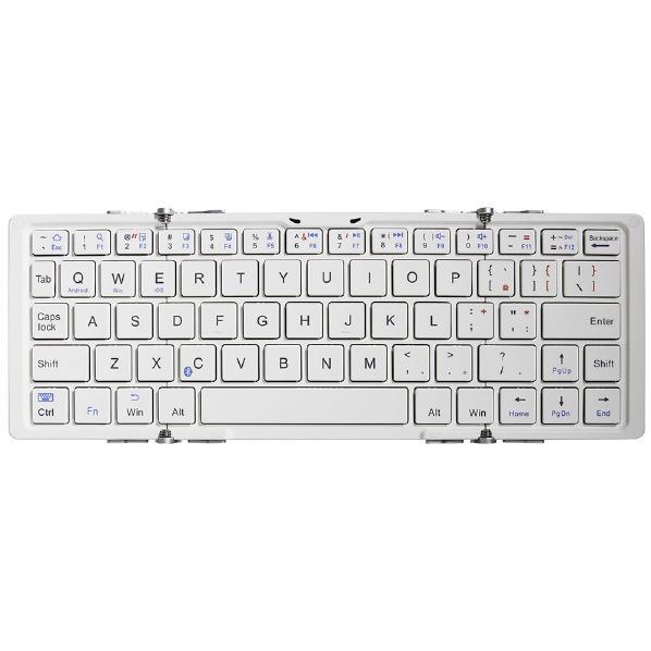 オウルテック Bluetoothキーボード ホワイト OWL-BTKB6401-WHSI [OWLBTKB6401WHSI]