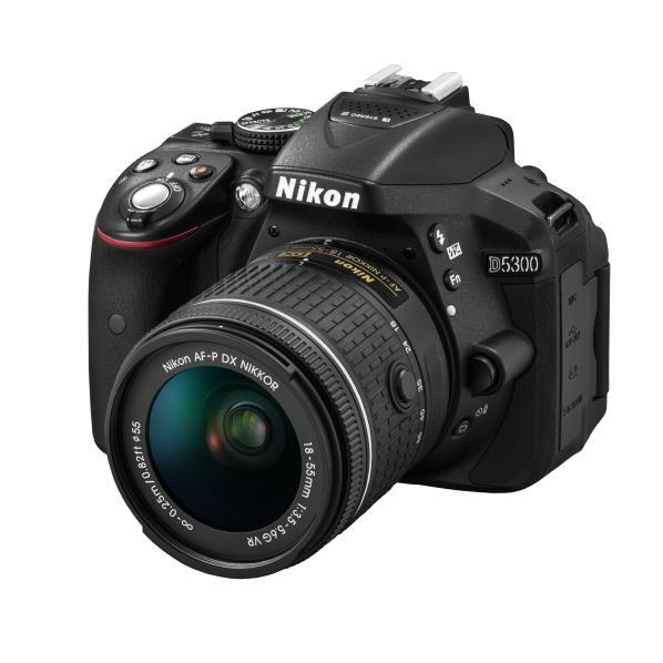 【送料無料】ニコン デジタル一眼レフカメラ・AF-P 18-55 VR キット D5300 ブラック D5300LKP1855 [D5300LKP1855]【RNH】